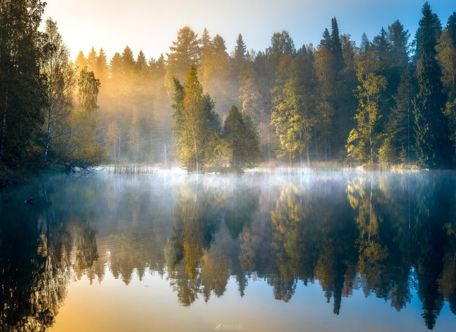 озеро туман обои на рабочий стол № 381756 без смс