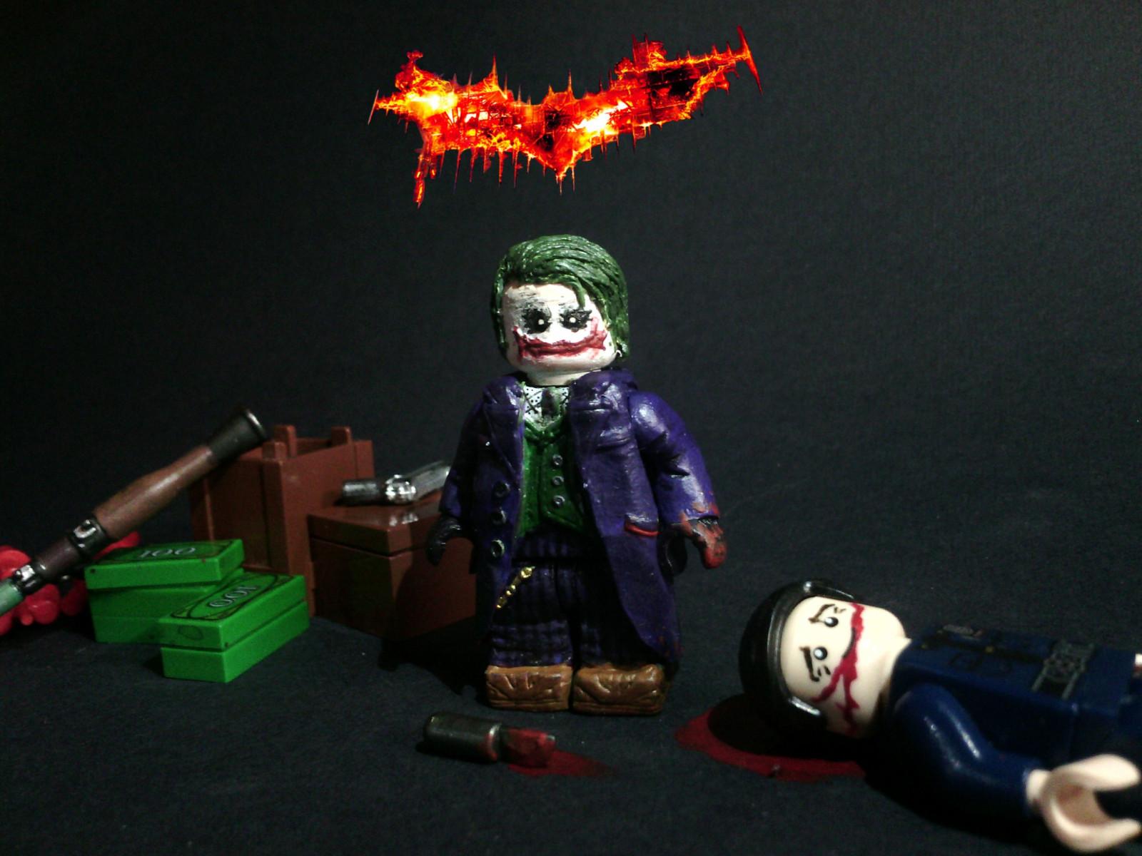 Masaüstü Karanlık şövalye Joker Lego Oyuncak özel Heath The