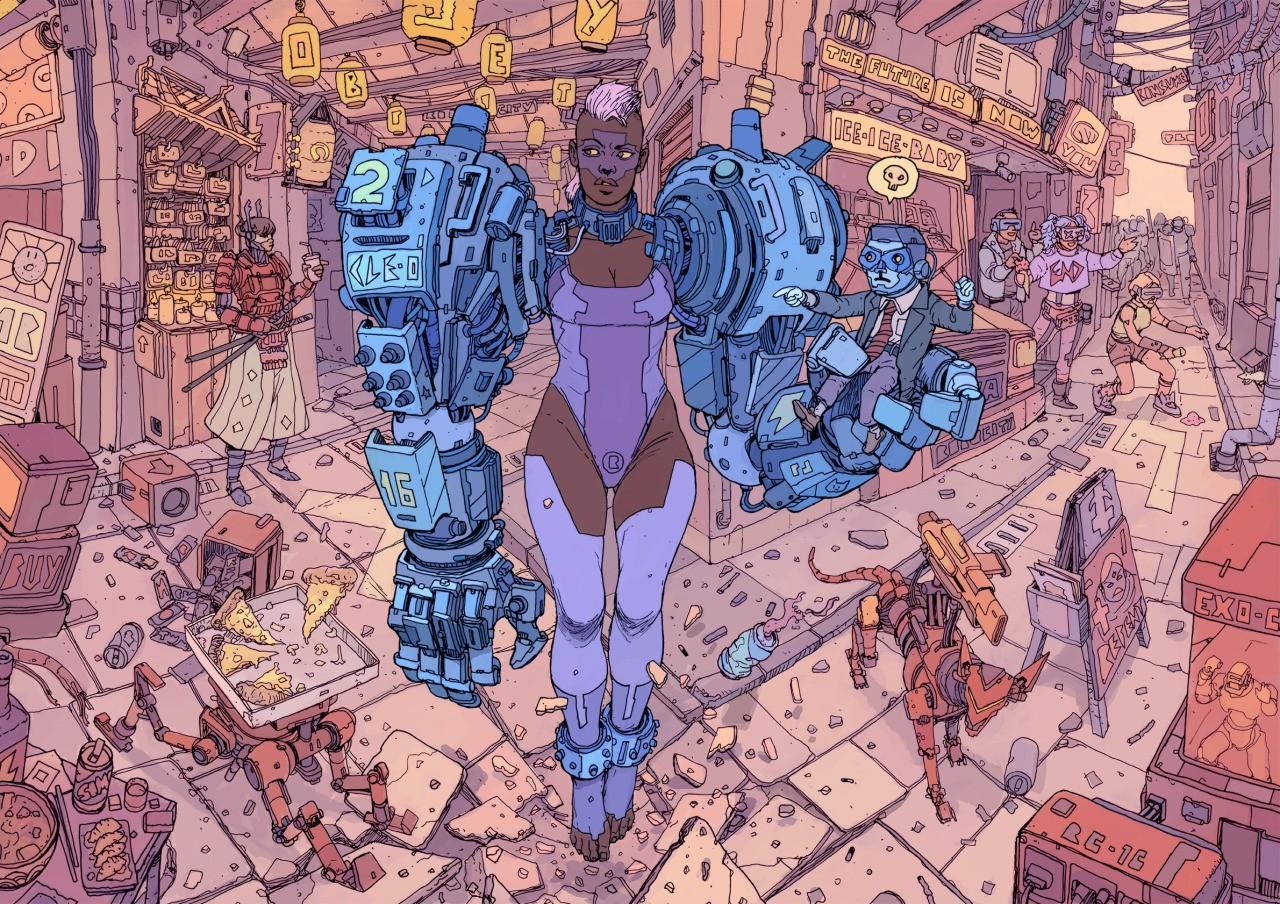 Sfondi : disegno illustrazione robot opera darte cartone