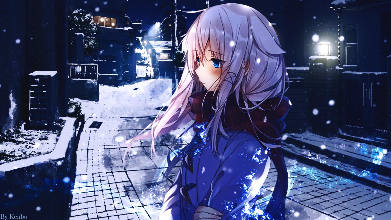 Wallpaper : anime girls, snow 1920x1080 - shaunski ...