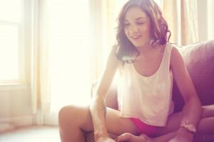 Pekné dospievajúce dievčatá nahý