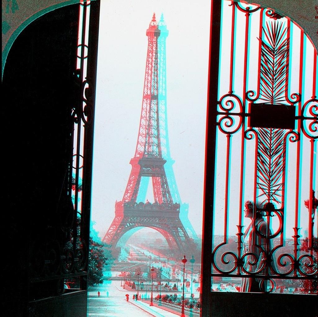 Wallpaper Ilustrasi Kota 3D Perancis Menara Eiffel