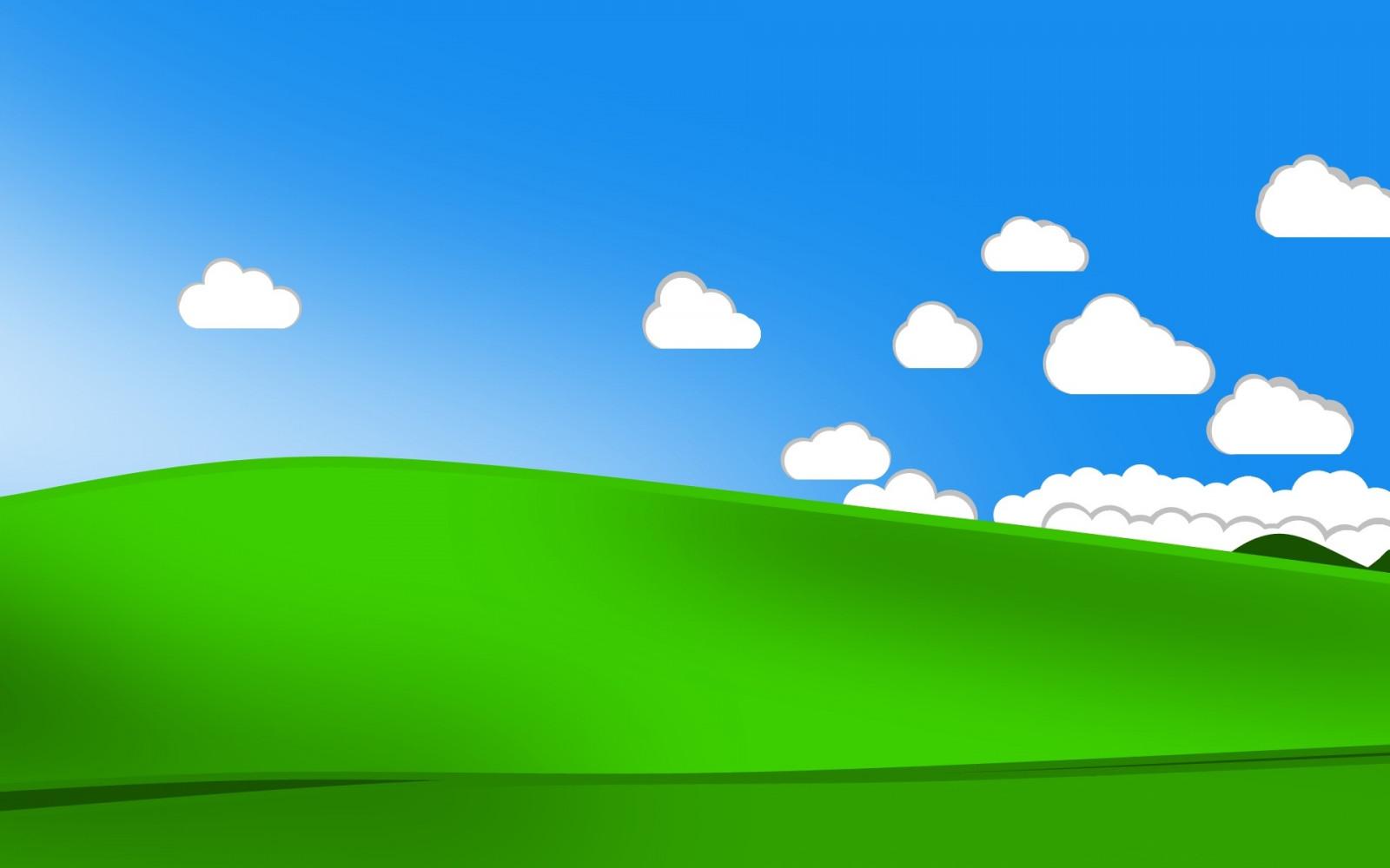 デスクトップ壁紙 風景 丘 ミニマリズム 空 フィールド 雲 緑