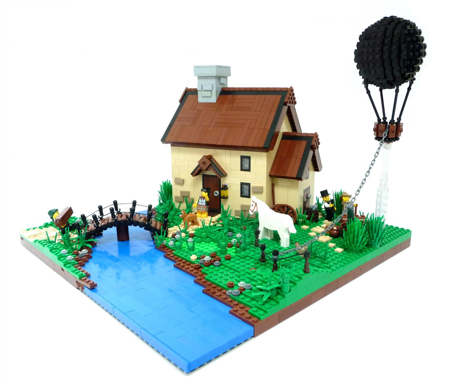 fond d 39 cran illustration ville cul maison lego pont rivi re vaisseau spatial ballon. Black Bedroom Furniture Sets. Home Design Ideas
