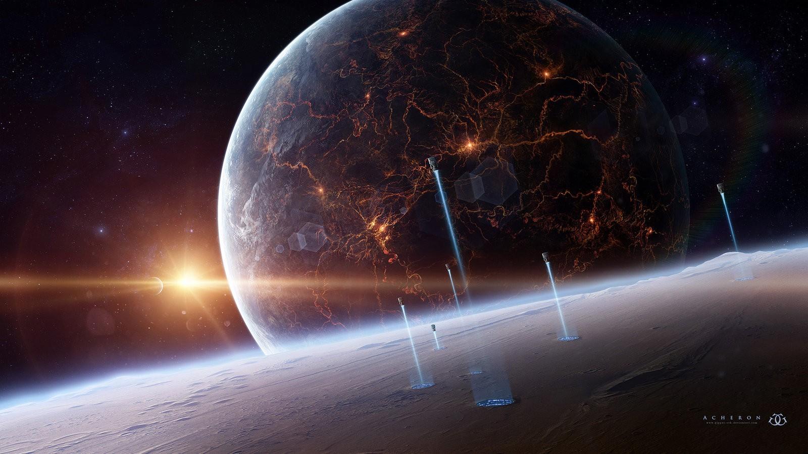 Earth Digital Art Hd Wallpaper: Wallpaper : Digital Art, Night, Planet, Earth, Space Art