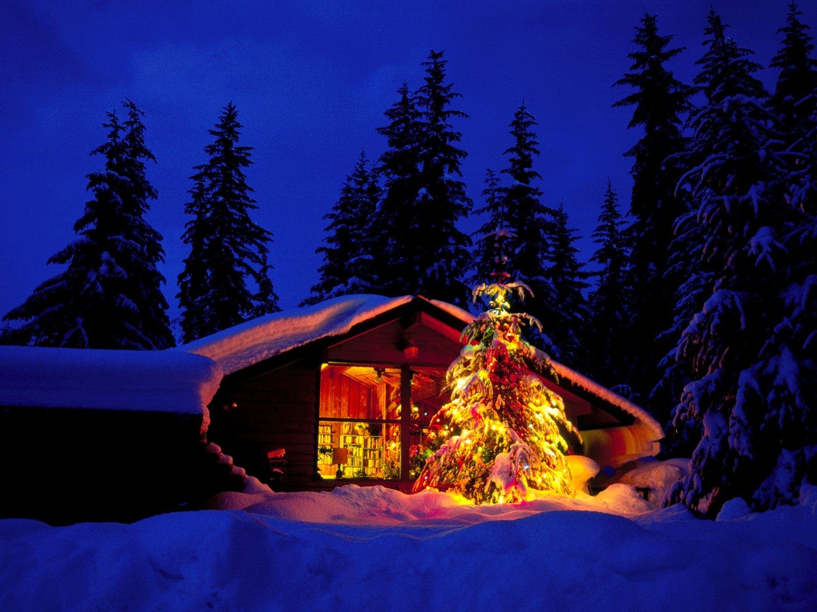 Haus Weihnachtsbeleuchtung.Hintergrundbilder Fenster Nacht Himmel Schnee Winter