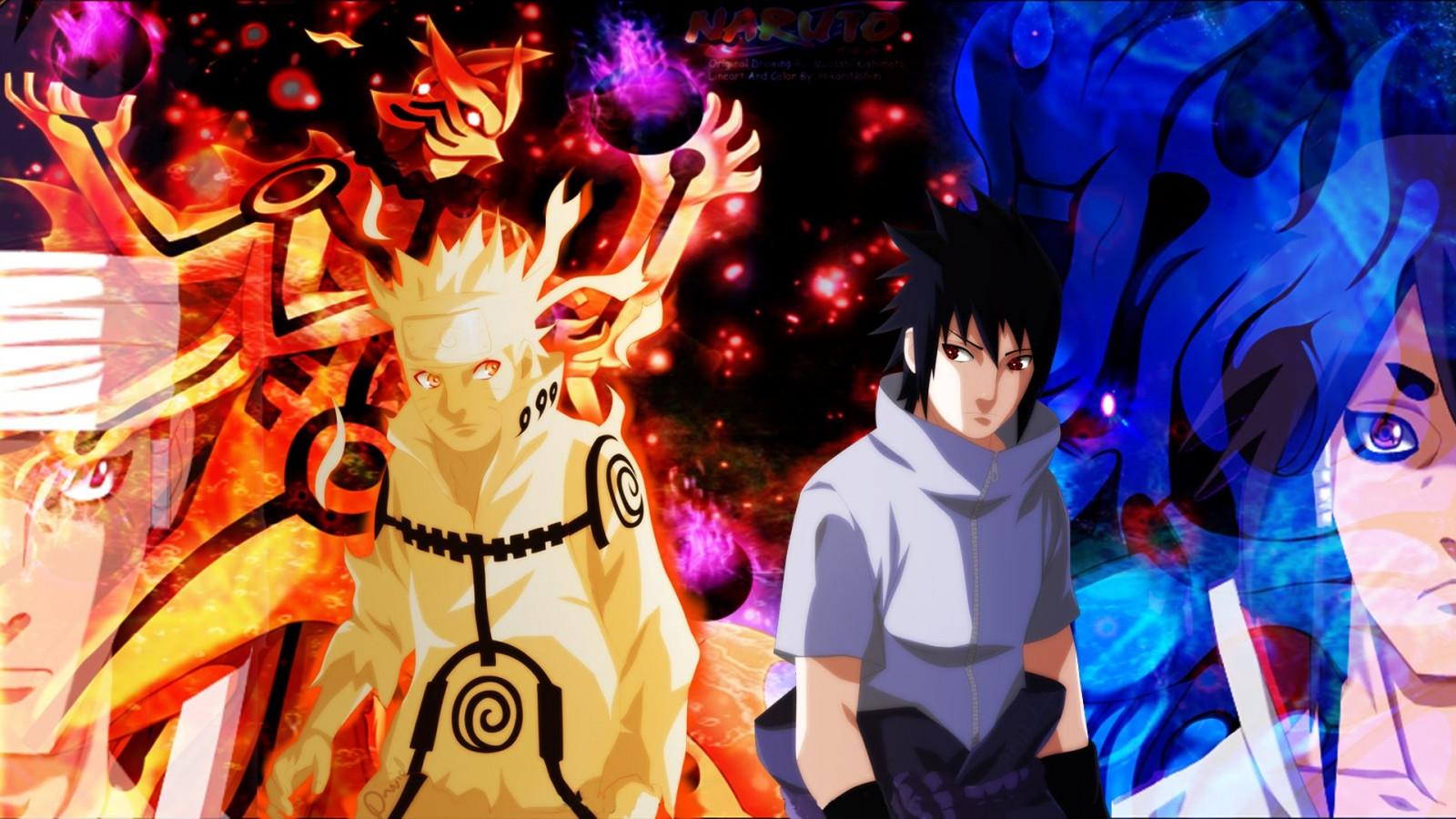 Wallpaper Uchiha Sasuke Uzumaki Naruto Ashura Otsutsuki