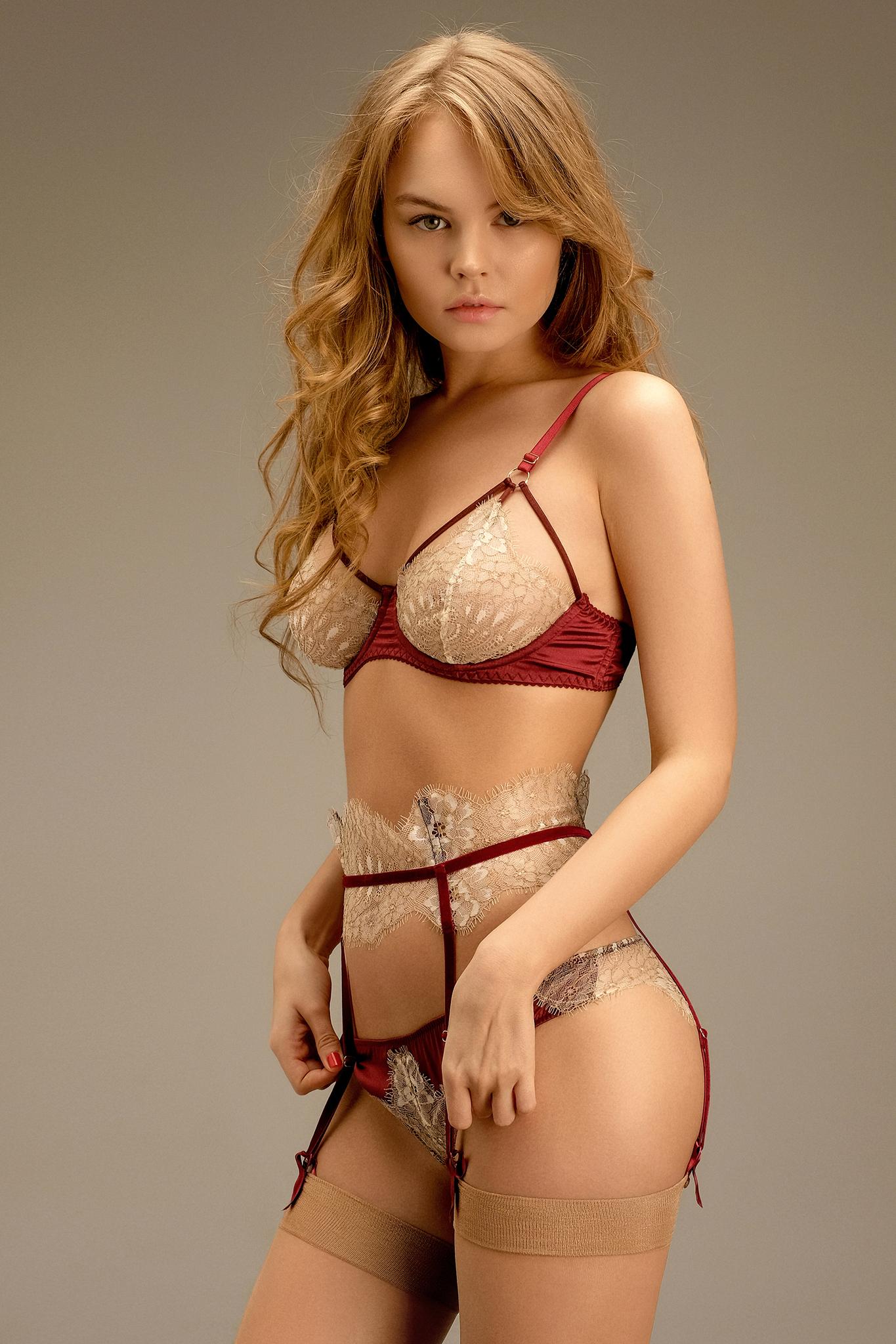Anastasia Scheglova, model, women, lingerie