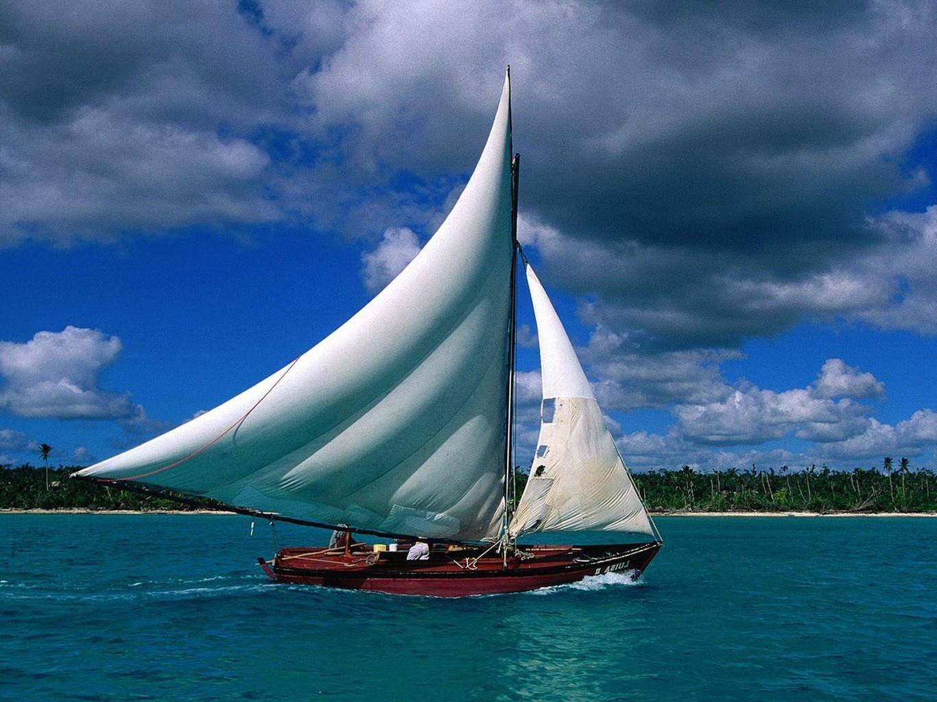 Fond d 39 cran bateau voile mer eau v hicule le - Photo de voilier gratuite ...