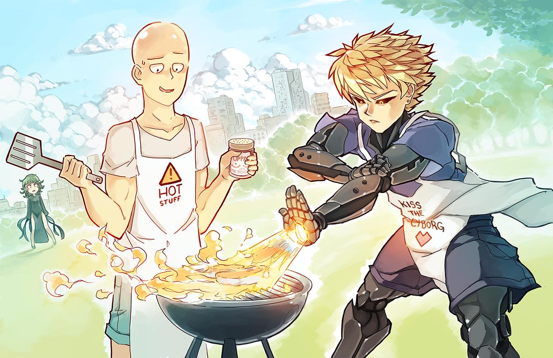 Wallpaper Illustration Anime Boys Cartoon Fire