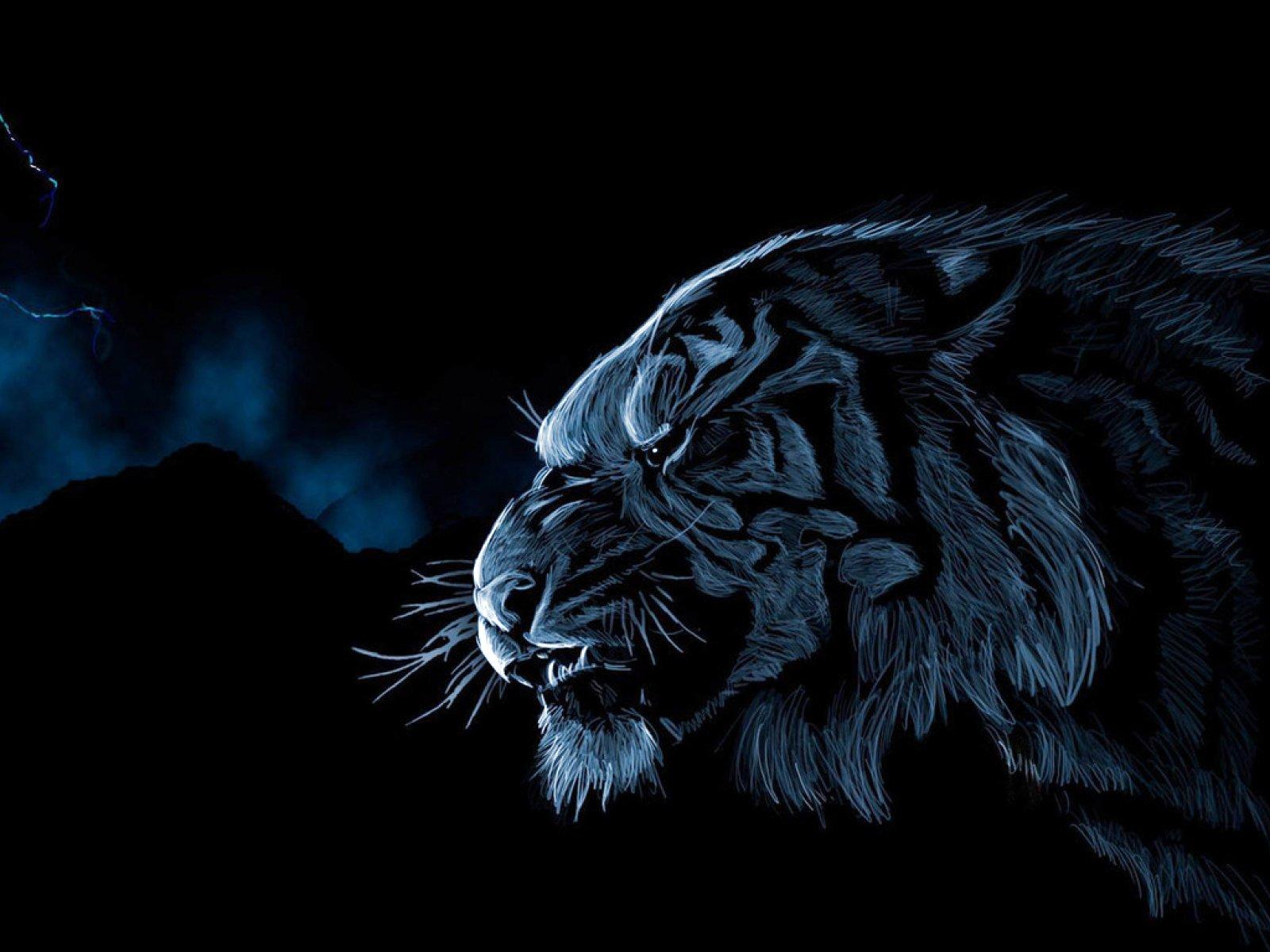 Темные картинки с тигром