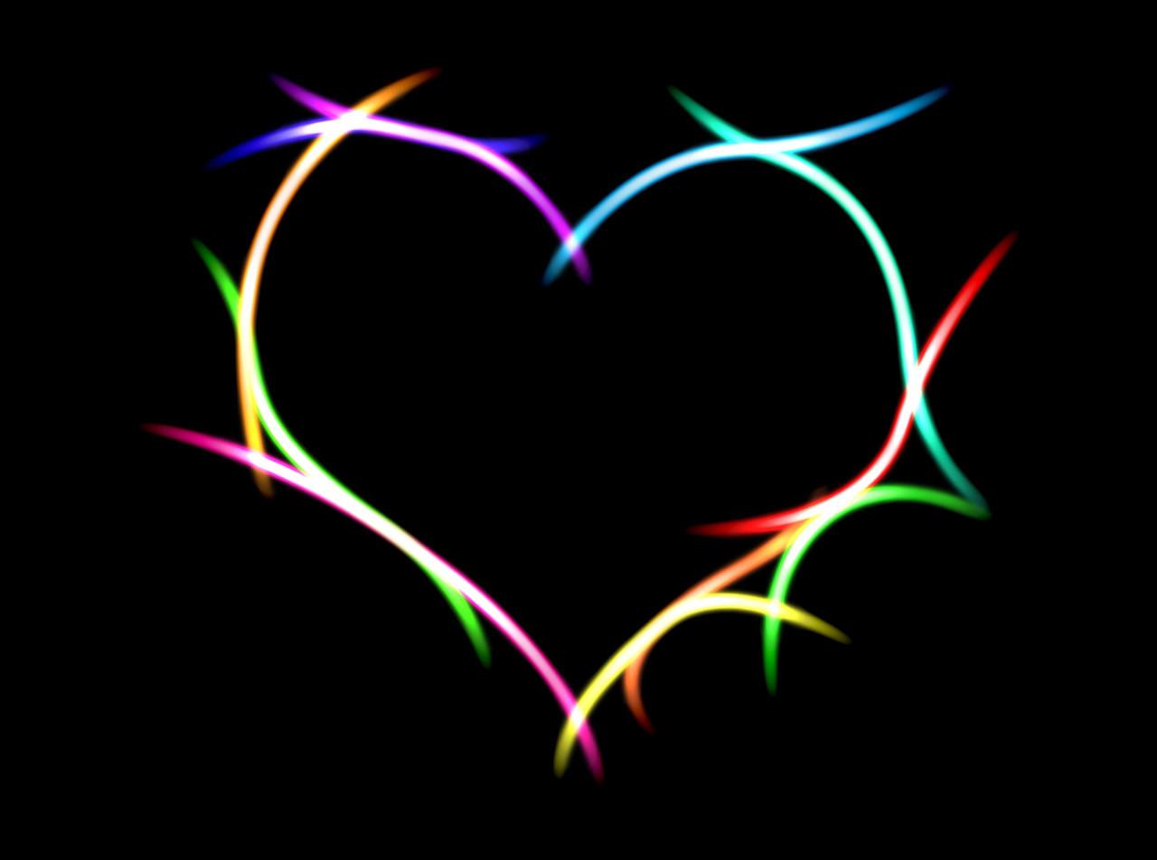 Masaüstü Illüstrasyon Aşk Kalp Simetri Daire Hat Karanlık
