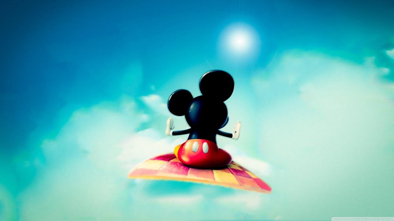 デスクトップ壁紙 図 ミッキーマウス 青 色 スクリーンショット