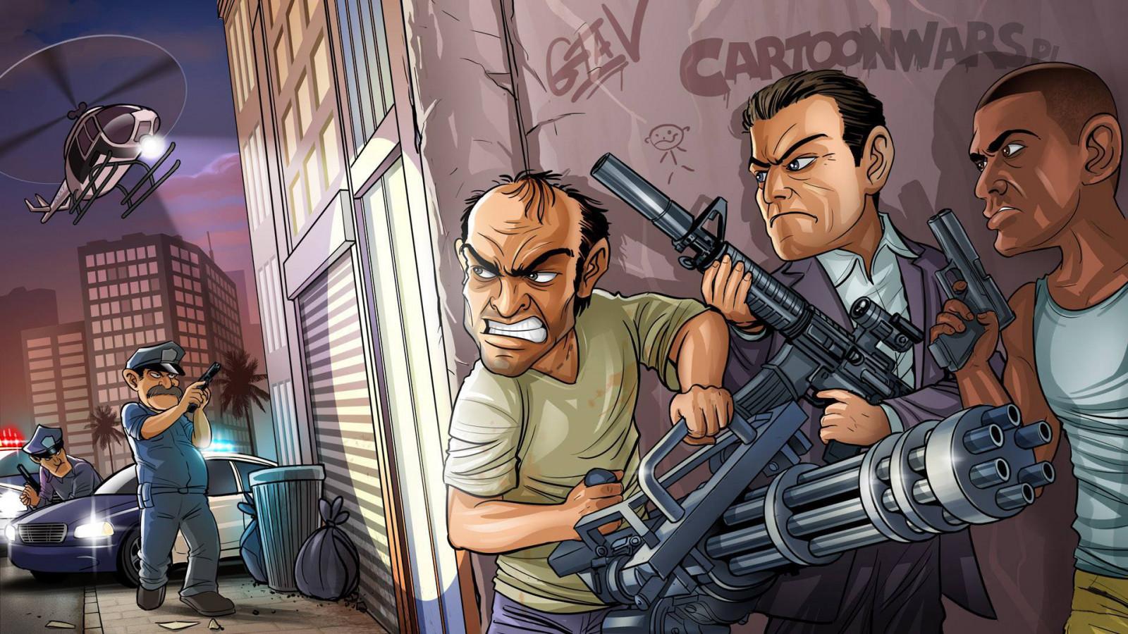 Ipad Retina Hd Wallpaper Rockstar Games: Wallpaper : Bandits, Weapons, Michael, Trevor Phillips