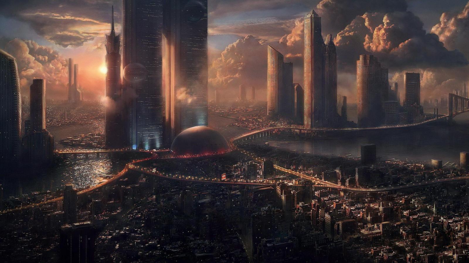 cityscapes futuristic wallpaper 1900x1041 - photo #8