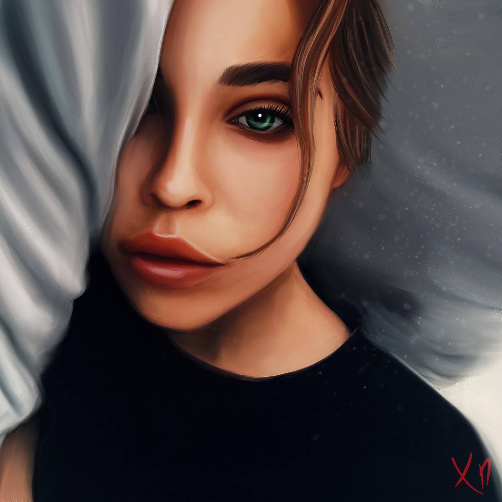 Fond d 39 cran femmes xilston arts portrait 1920x1920 for Fond ecran portrait