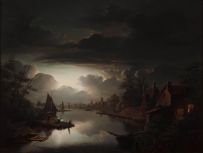 Masaüstü Boyama Gün Batımı Gece Yansıma Gökyüzü Bulutlar