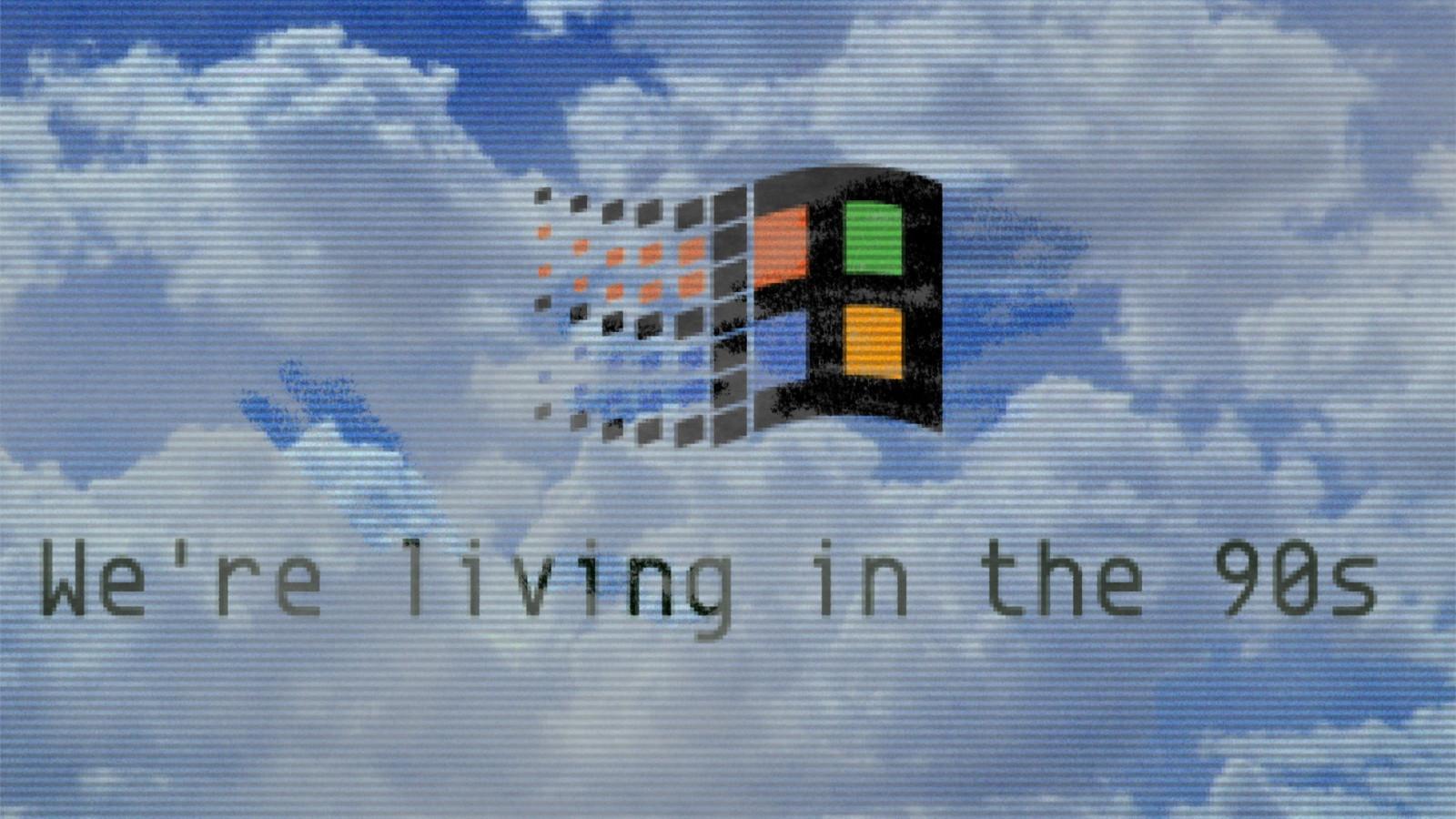 Fondos De Pantalla Onda De Vapor Años Noventa Microsoft