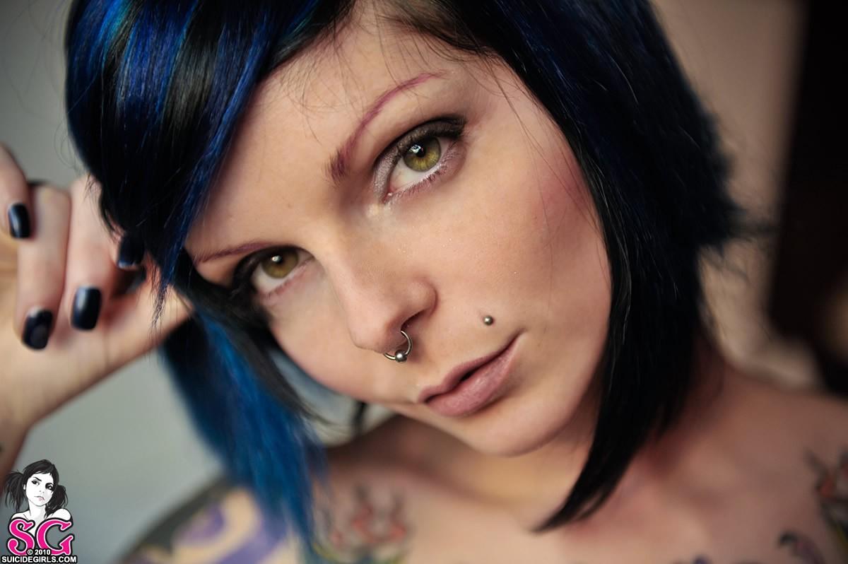 Wallpaper : face, model, nose rings, pornstar, painted