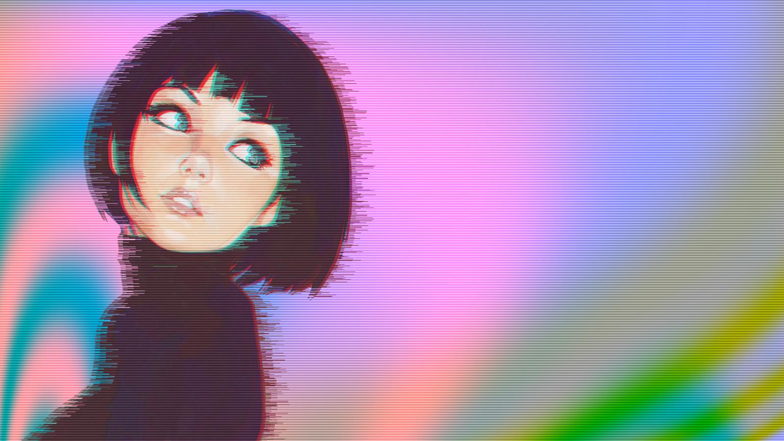 wallpaper vaporwave anime 1920x1080