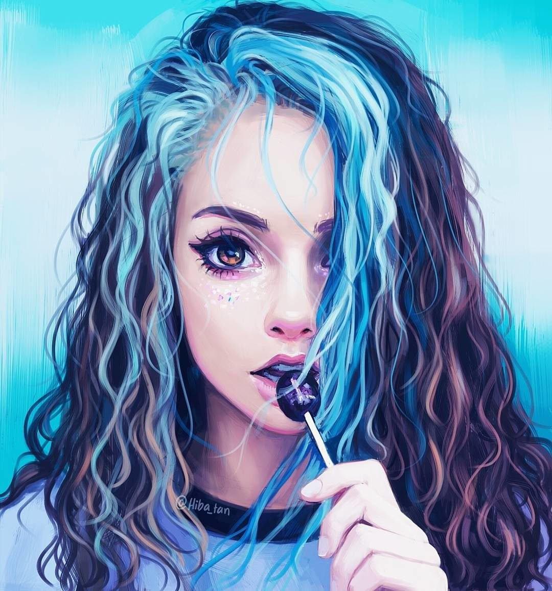 Волосы девушки рисовать фото