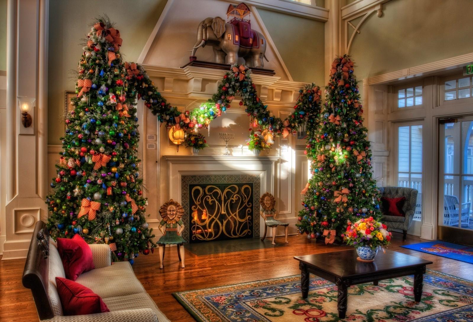 Sfondi alberi di natale vacanza decorazioni camino - Decorazioni camino ...