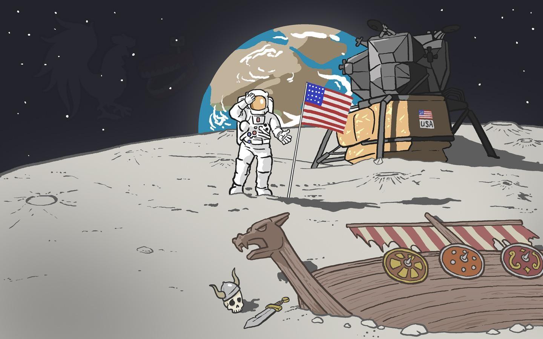 Анимации скучно, приколы на луне картинка