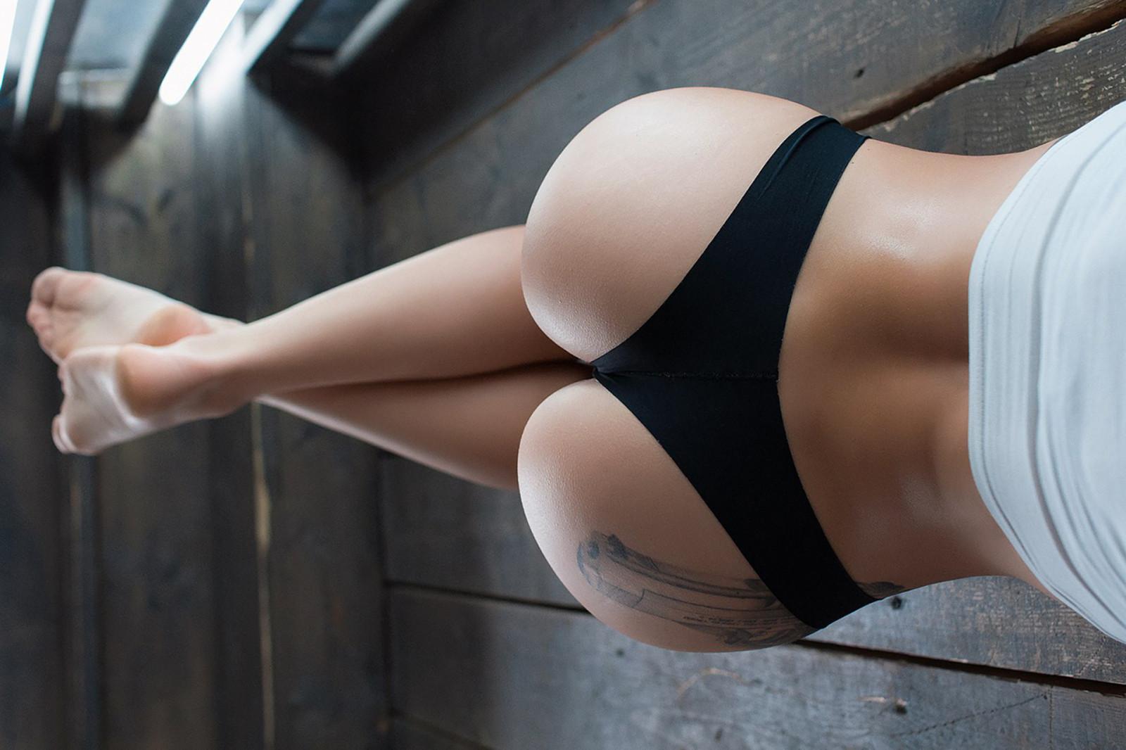 Black girl in panties