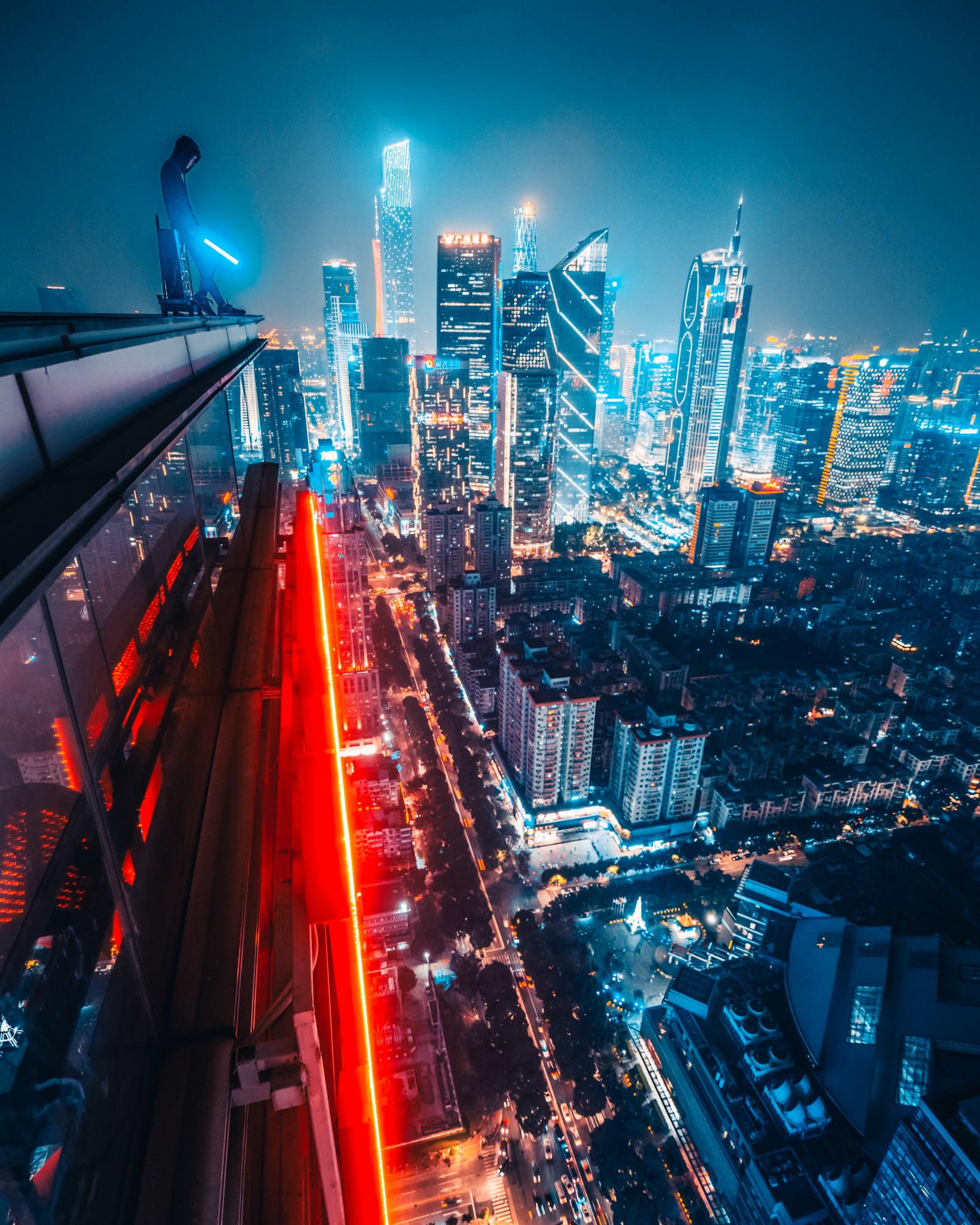 Wallpaper : Simon Zhu, Guangzhou, China, Night, Urban