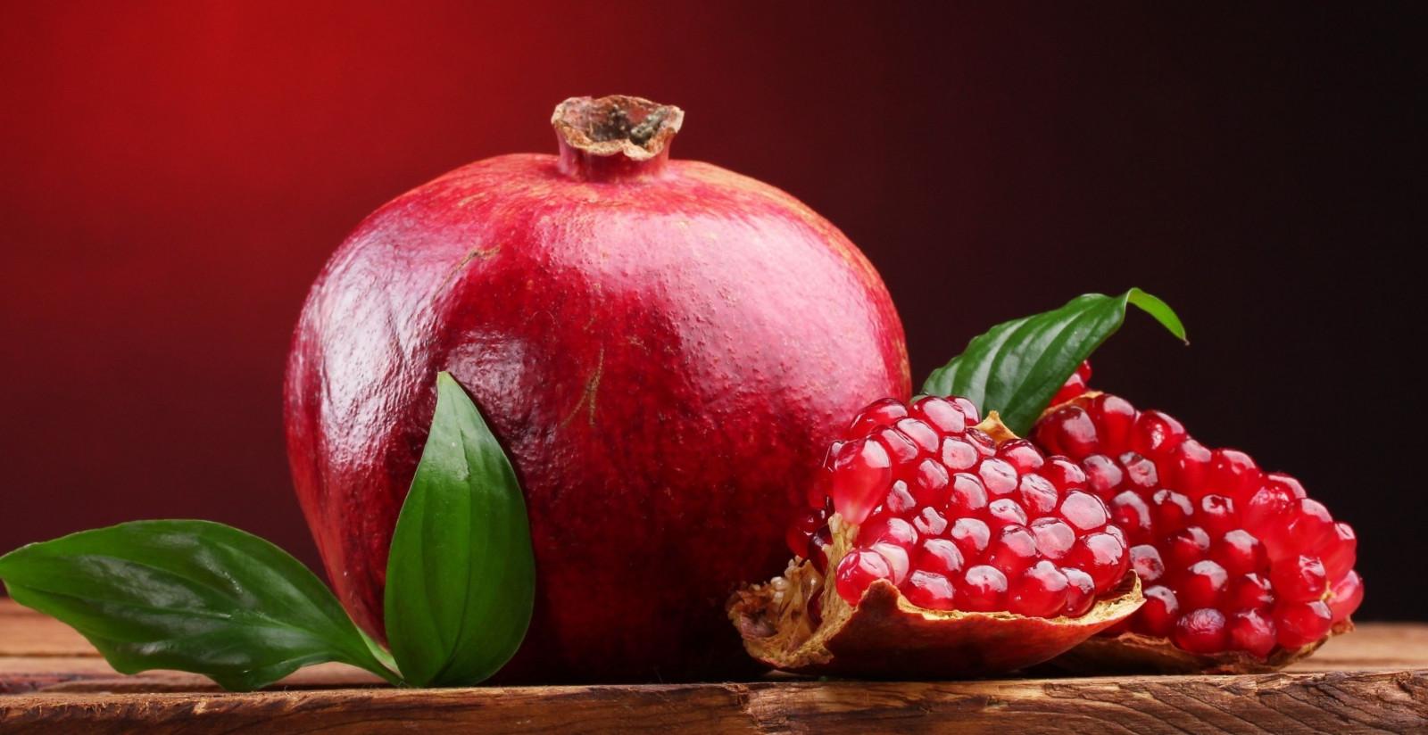Masaustu Boyama Yapraklar Gida Kirmizi Meyve Meyveler Nar