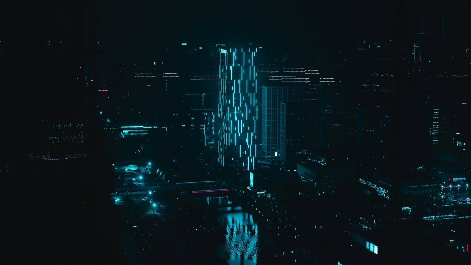 Masaüstü şehir Manzarası Mimari Bina Gece 1920x1080