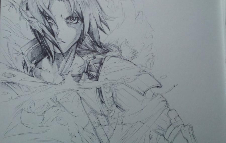 Fond D Ecran Dessin Illustration Monochrome Portrait