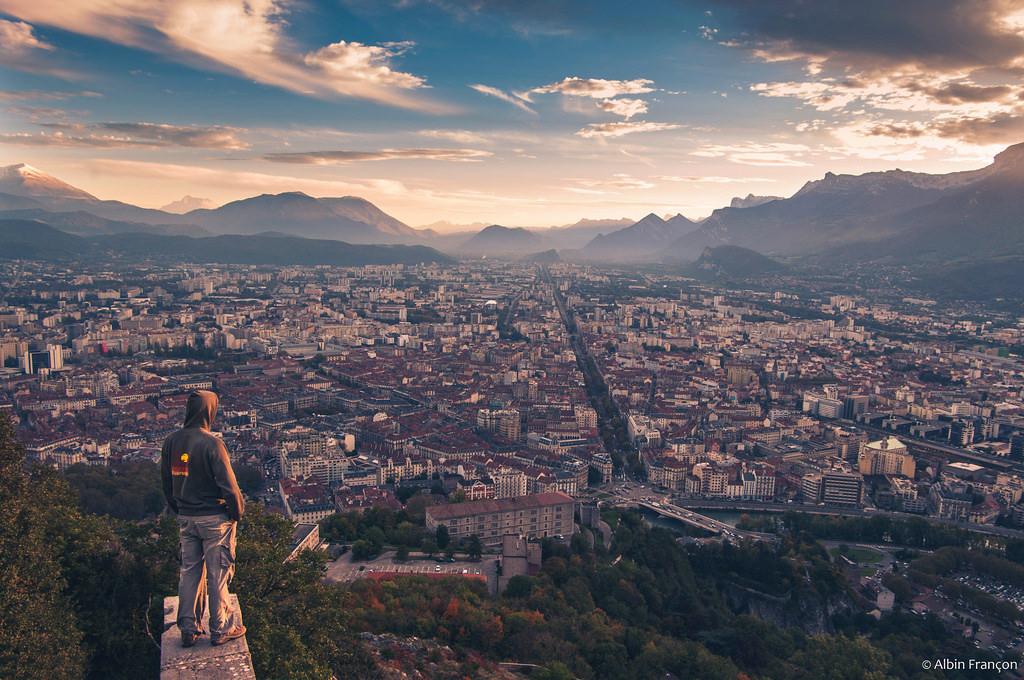 Wallpaper Grenoble City Paysage Landscape Montagne