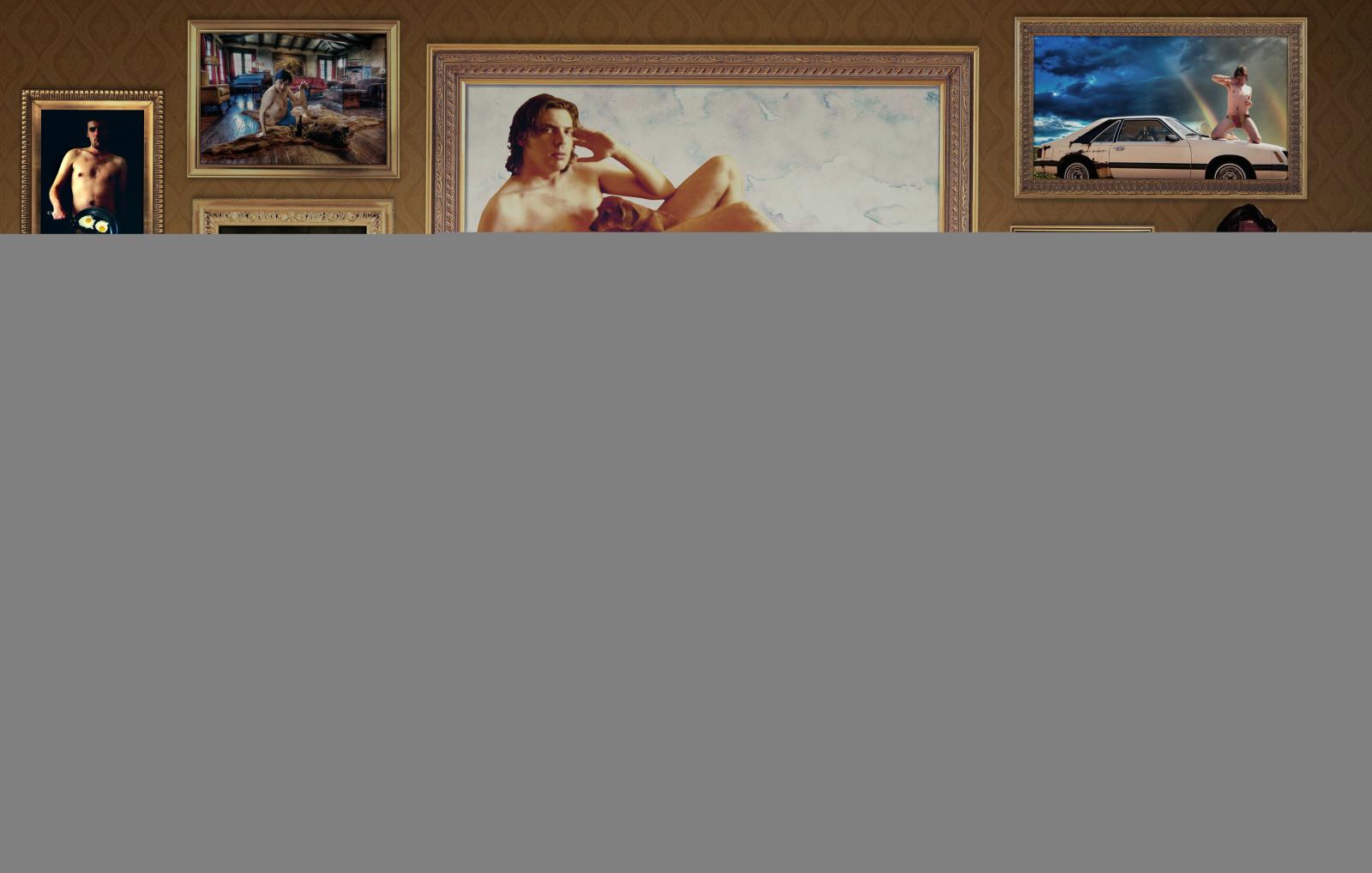 Wallpaper Bertelanjang Dada Potret David Robert Naik