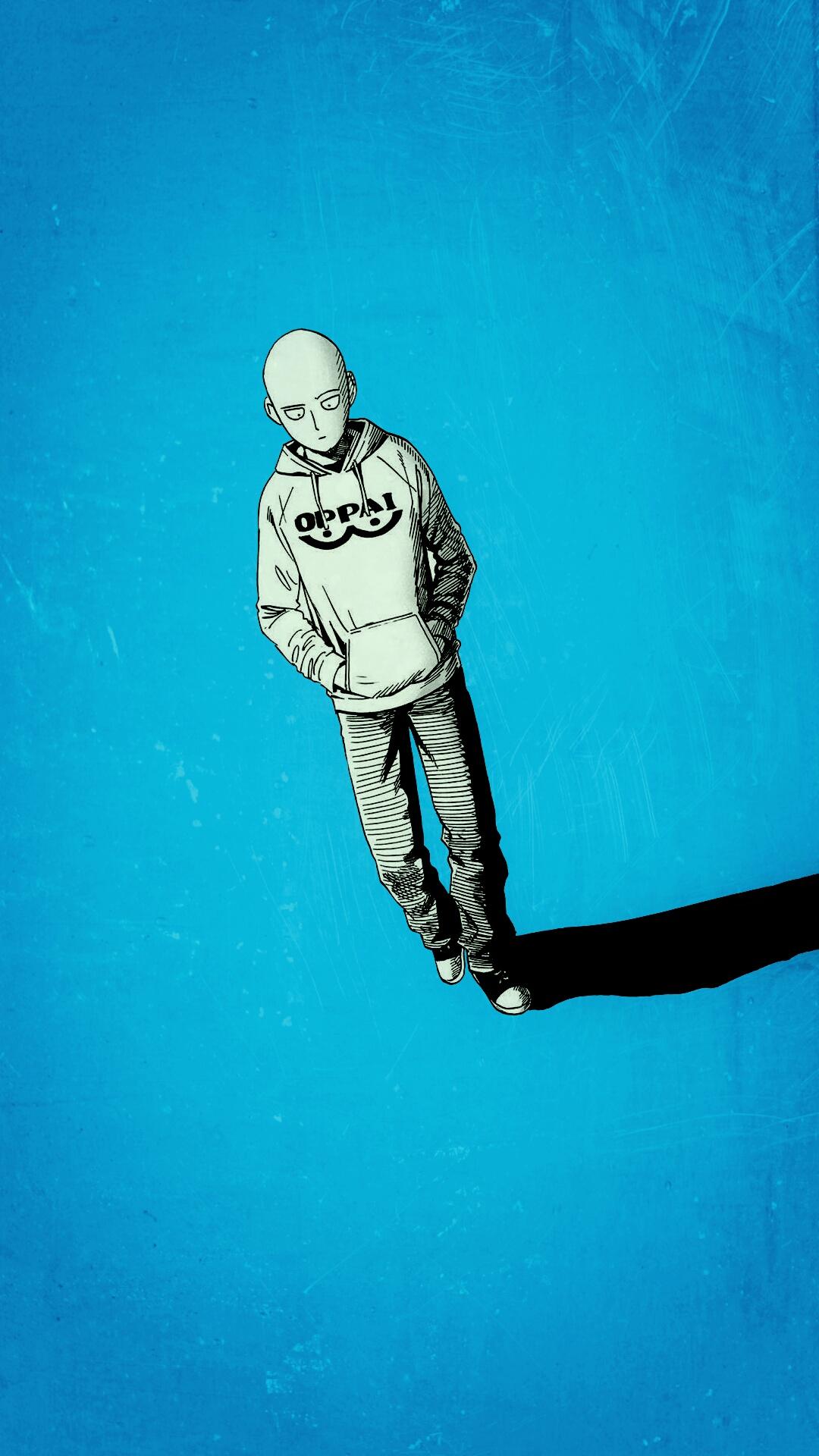 One Punch Saitama Images - Wallpaper : Saitama, One Punch Man, minimalism 1080x1920 ...