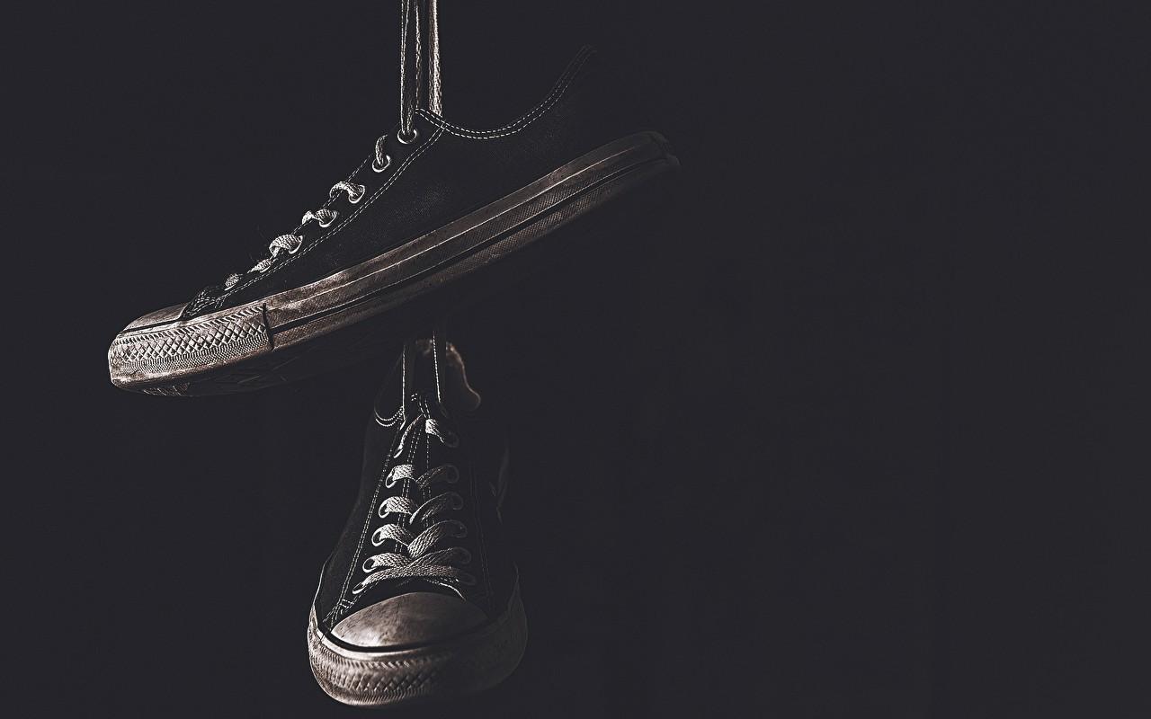 Wallpaper Shoes Chucks Allstars Lighting Darkness