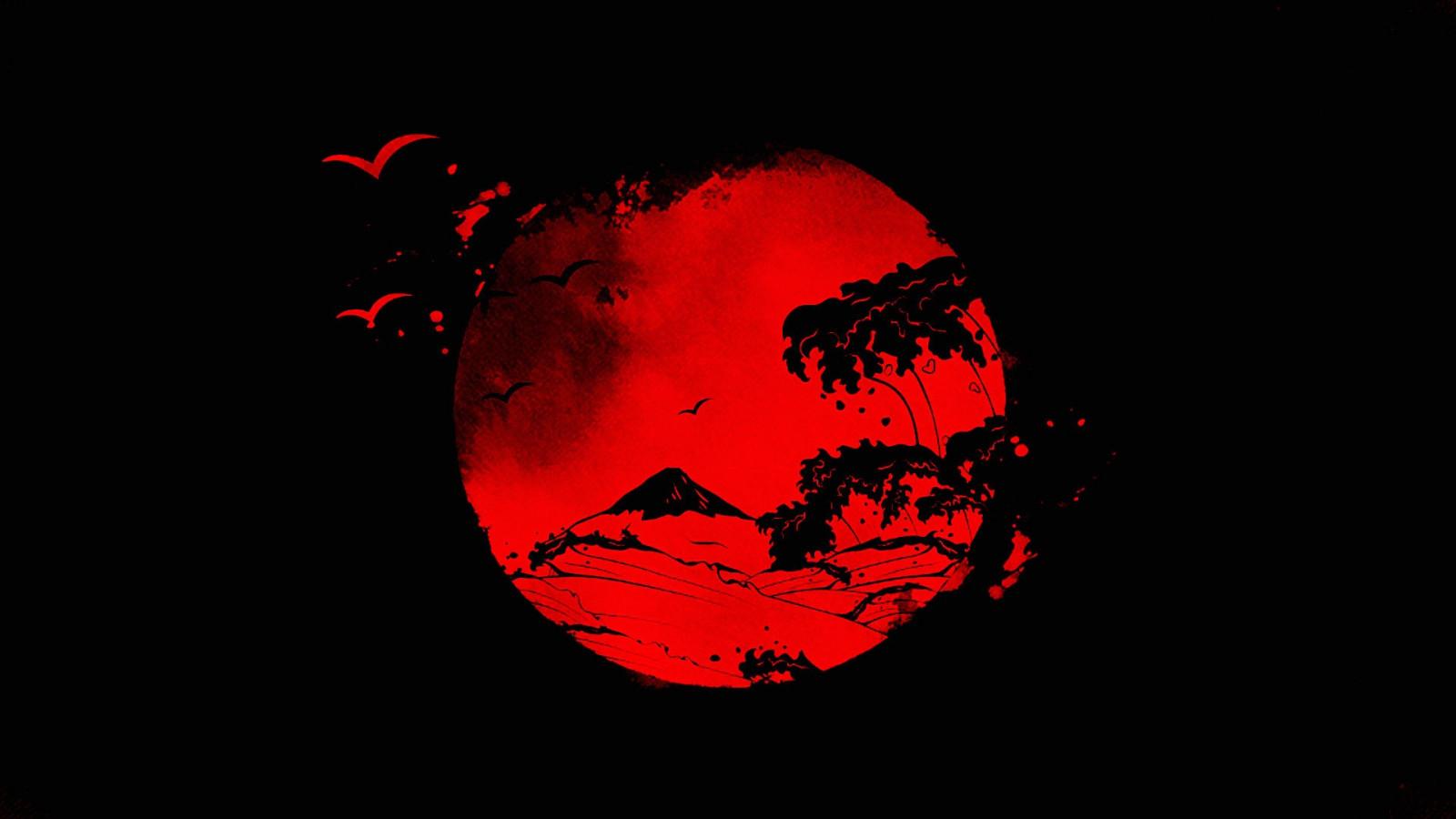 Fond d'écran : dessin, illustration, rouge, Terre, Soleil, cercle, Japonais, Ange déchu ...