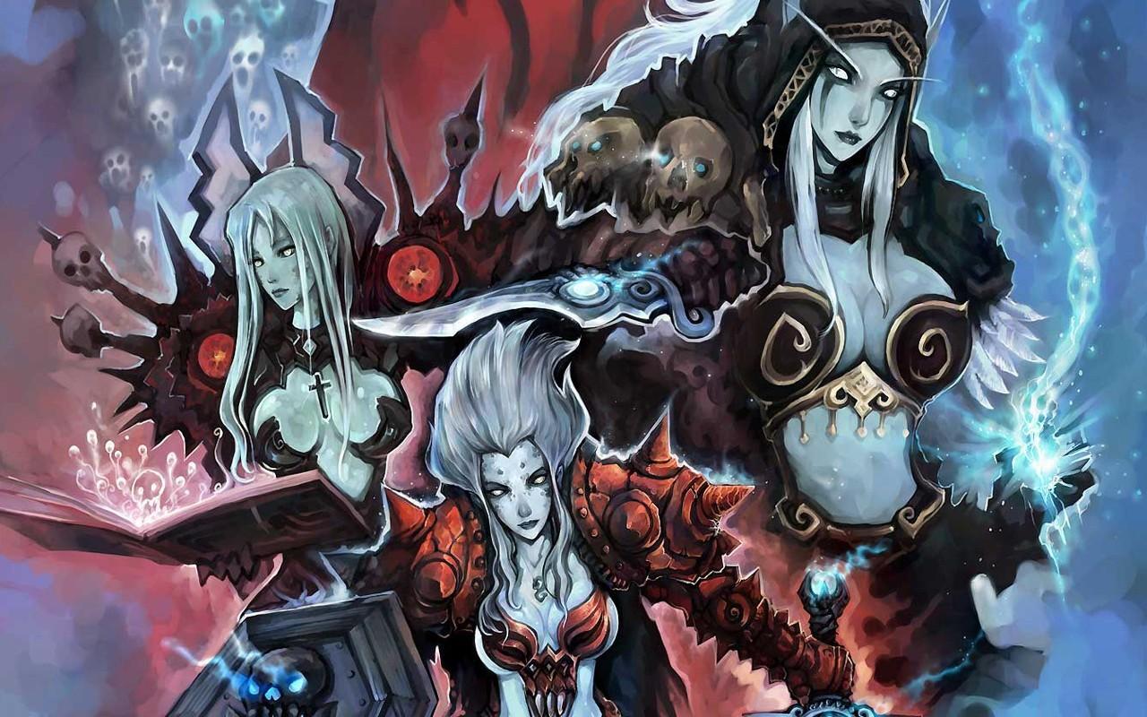 Illustration video games fantasy girl anime deviantart world of warcraft fan art skull boobs machine comics