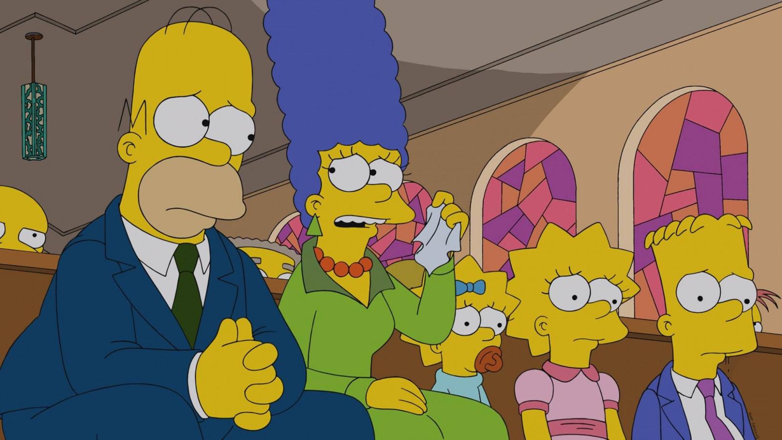 Fond D Ecran Illustration Dessin Anime Les Simpsons Des