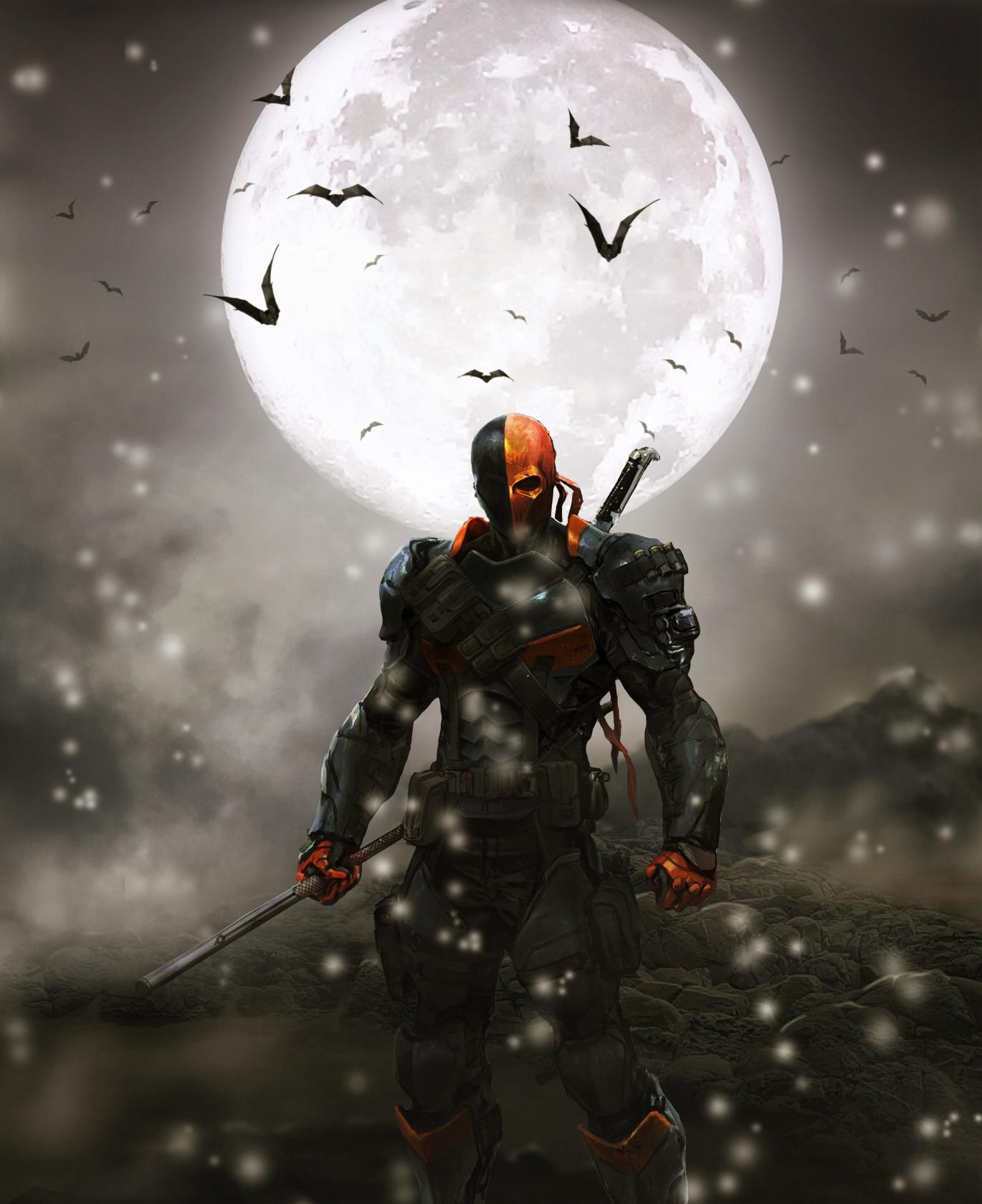 Video Games Nature Snow Moon Bats DC Comics Green Arrow Deathstroke Batman Arkham Origins Darkness Screenshot