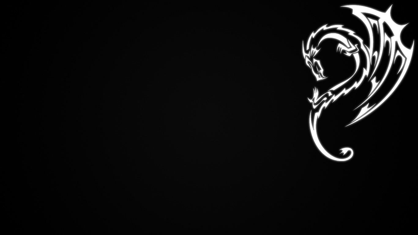 デスクトップ壁紙 ロゴ 単純な ドラゴン 闇 1366x768 Px コンピュータの壁紙 黒と白 モノクロ写真 フォント 器官 三日月 1366x768 Wallpaperup デスクトップ壁紙 Wallhere