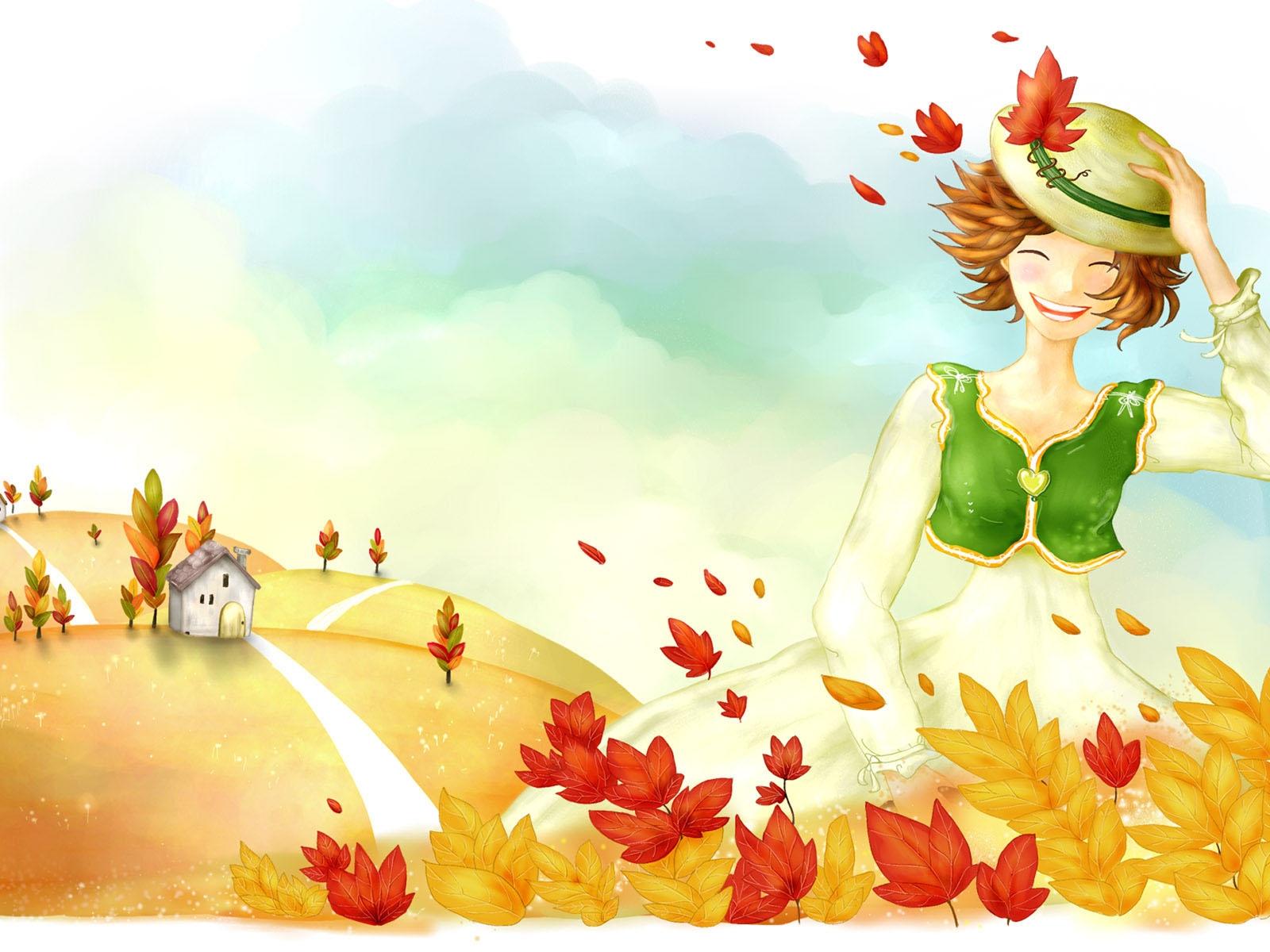 Мамы картинки, прикольные рисунки на тему осень