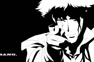 Zeichnung Illustration Einfarbig Anime Animejungen Karikatur Cowboy Bebop Spike Spiegel Vektoren Skizzieren Schwarz Und