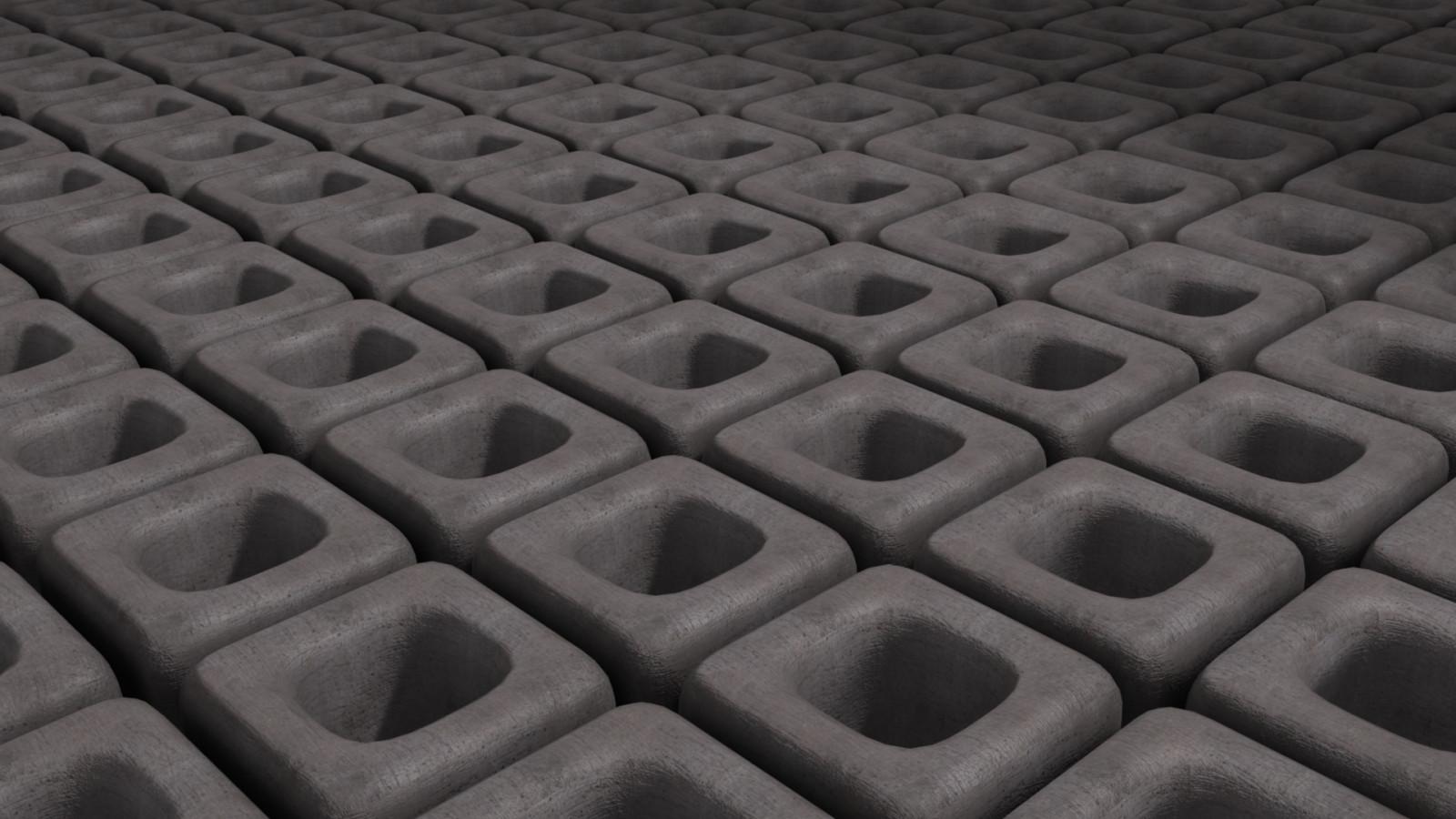 Wallpaper digital art monochrome abstract 3d minimalism cobblestone cube pattern - Tire tread wallpaper ...