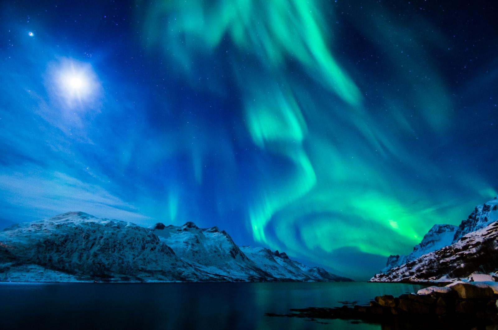 Wallpaper : northern lights, aurora borealis, UK, 2015 ...