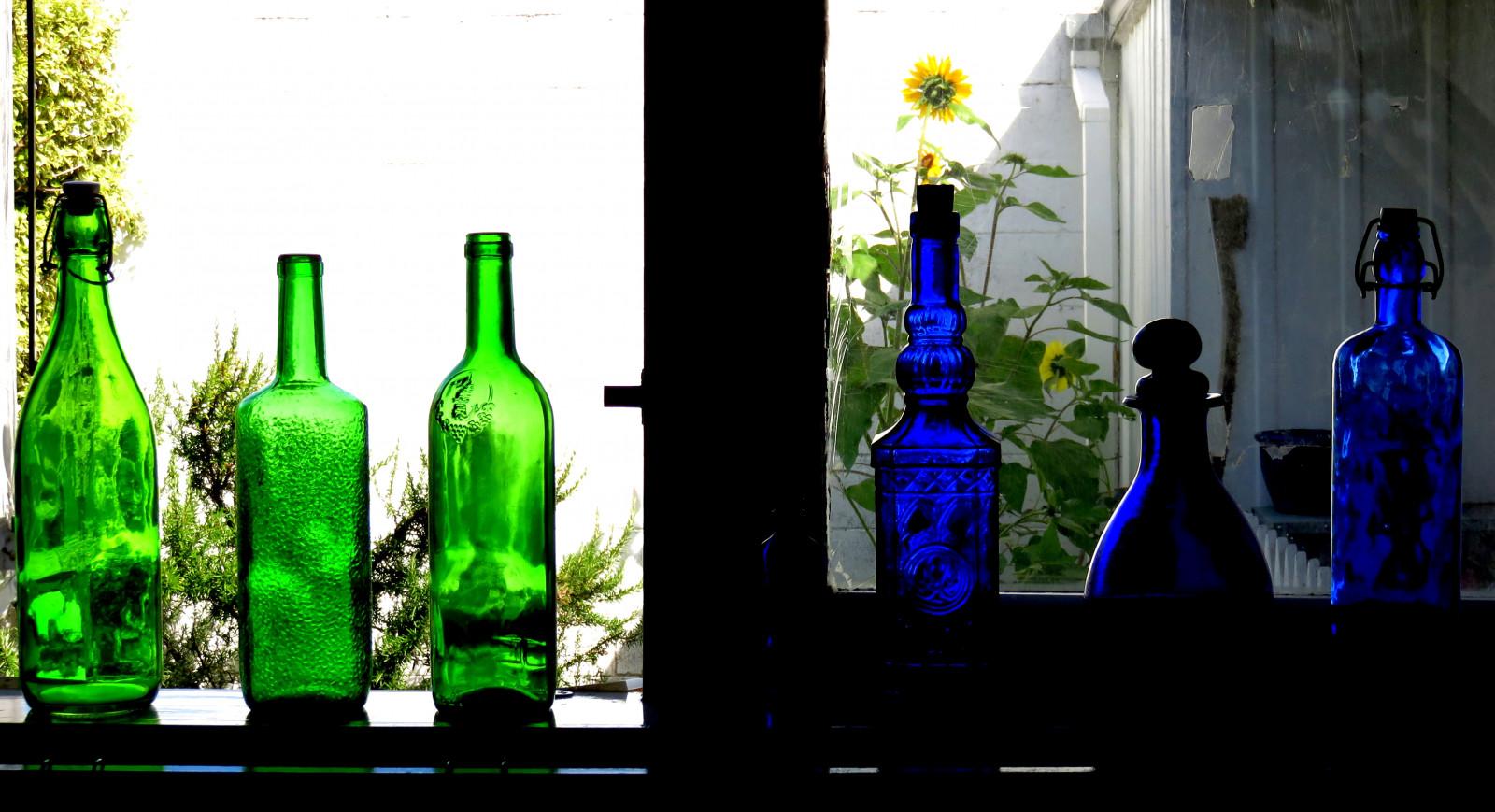 Sfondi Verde Bottiglia Di Vetro Blu Cobalto Bottiglia Di Vino