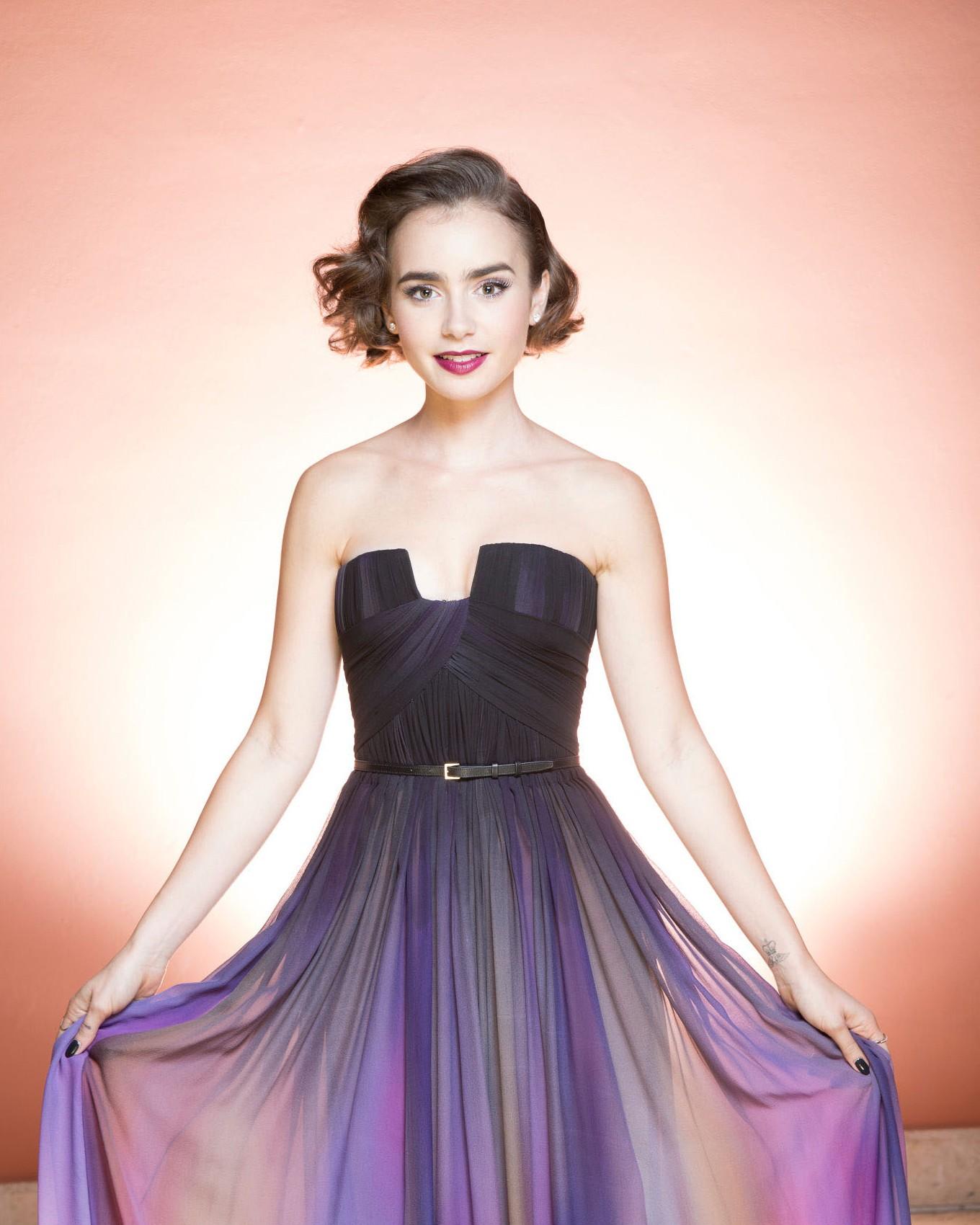Hintergrundbilder : Frau, Berühmtheit, Kleid, Mode, Lily Collins ...