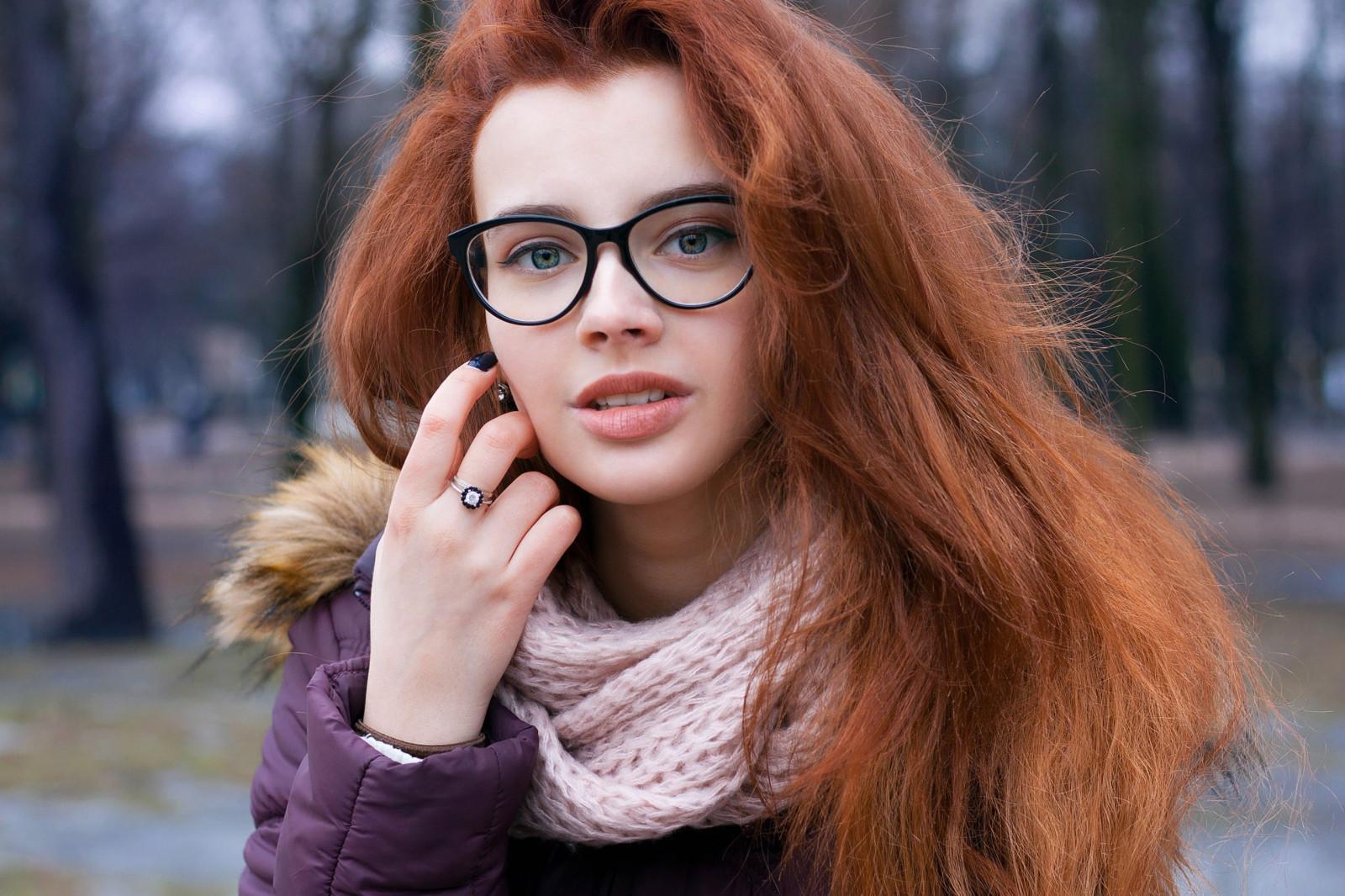 Hintergrundbilder : Frau, Rothaarige, Frauen mit Brille