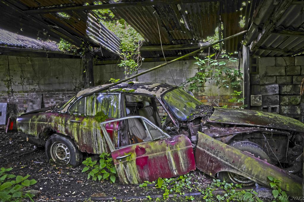 Wallpaper : landscape, ruin, grass, wall, moss, green, wreck