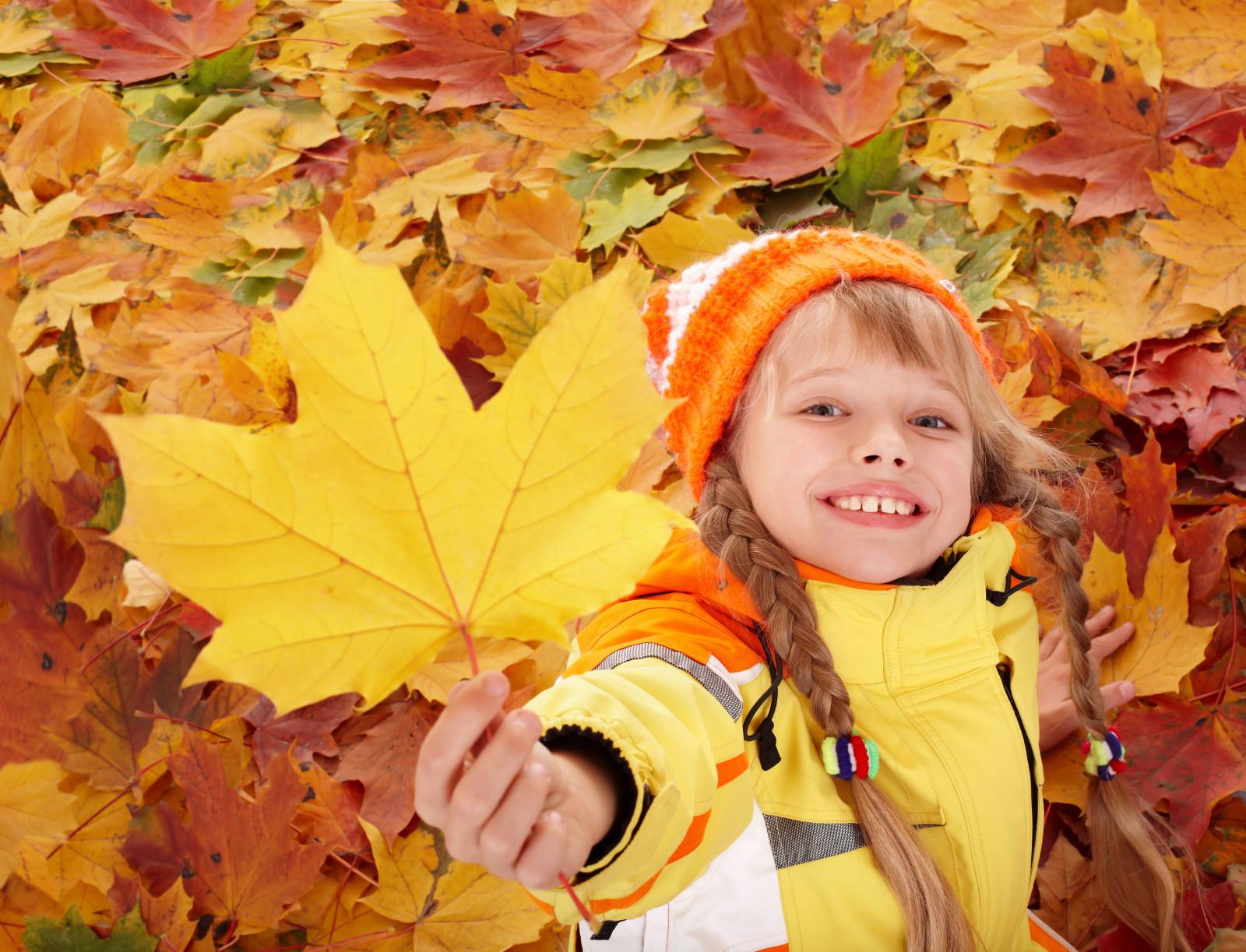 Светлой, осенние картинки с детьми красивые